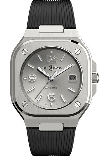 Bell & Ross Watches - BR 05 Grey Steel - Style No: BR05A-GR-ST/SRB