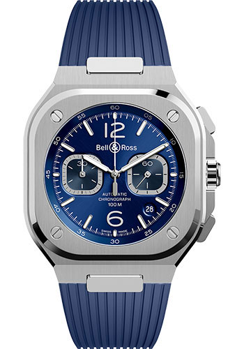 Bell & Ross Watches - BR 05 Chrono Blue Steel - Style No: BR05C-BU-ST/SRB