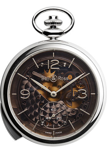 Bell & Ross Watches - Vintage BR PW1 Pocket Watch Repetition Minutes Skeleton - Style No: BRPW1-REPET-ARG-MI