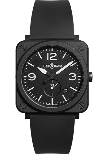 Bell & Ross Watches - BR-S Quartz Black Matte - Style No: BRS-BL-CEM