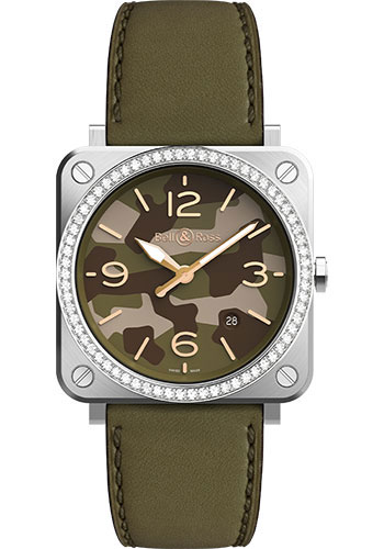 Bell & Ross Watches - BR-S Quartz Green Camo - Style No: BRS-CK-ST-LGD/SCA