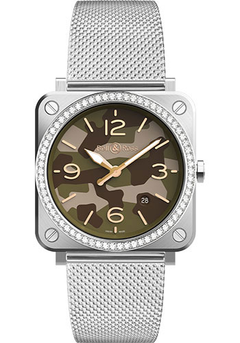 Bell & Ross Watches - BR-S Quartz Green Camo - Style No: BRS-CK-ST-LGD/SST