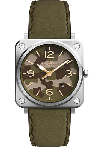 Bell & Ross Watches - BR-S Quartz Green Camo - Style No: BRS-CK-ST/SCA