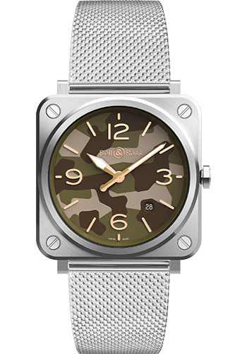 Bell & Ross Watches - BR-S Quartz Green Camo - Style No: BRS-CK-ST/SST