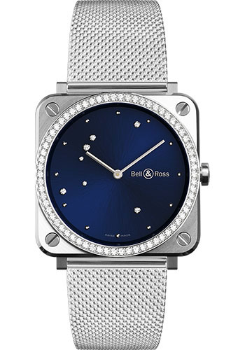 Bell & Ross Watches - BR-S Quartz Blue Diamond Eagle - Style No: BRS-EA-ST-LGD/SST