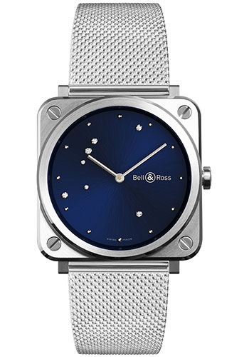 Bell & Ross Watches - BR-S Quartz Blue Diamond Eagle - Style No: BRS-EA-ST/SST