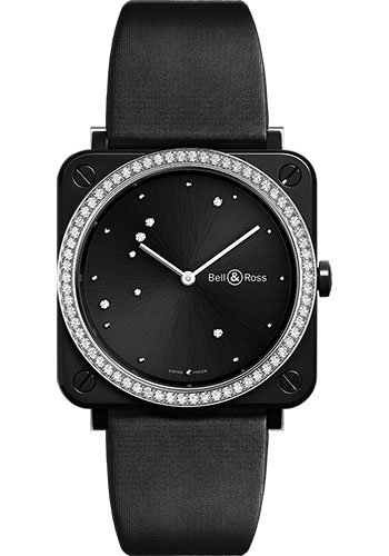 Bell & Ross Watches - BR-S Quartz Black Diamond Eagle - Style No: BRS-EBL-CE-LGD/SCA