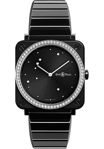 Bell & Ross Watches - BR-S Quartz Black Diamond Eagle - Style No: BRS-EBL-CE-LGD/SCE