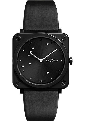 Bell & Ross Watches - BR-S Quartz Black Diamond Eagle - Style No: BRS-EBL-CE/SCA