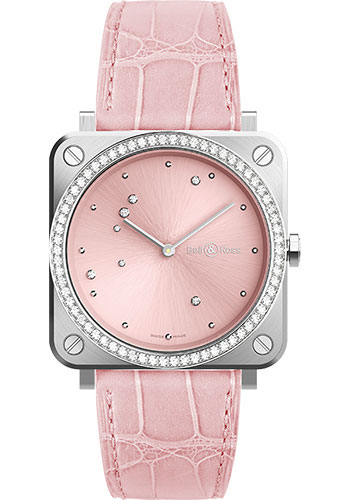 Bell & Ross Watches - BR-S Quartz Pink Diamond Eagle - Style No: BRS-EP-ST-LGD/SCR