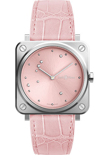 Bell & Ross Watches - BR-S Quartz Pink Diamond Eagle - Style No: BRS-EP-ST/SCR