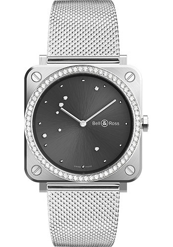 Bell & Ross Watches - BR-S Quartz Grey Diamond Eagle - Style No: BRS-ERU-ST-LGD/SST