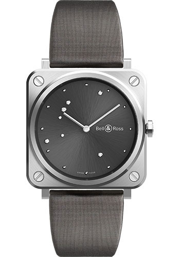 Bell & Ross Watches - BR-S Quartz Grey Diamond Eagle - Style No: BRS-ERU-ST/SCA