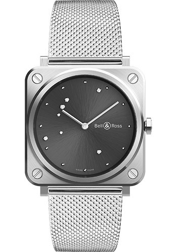 Bell & Ross Watches - BR-S Quartz Grey Diamond Eagle - Style No: BRS-ERU-ST/SST