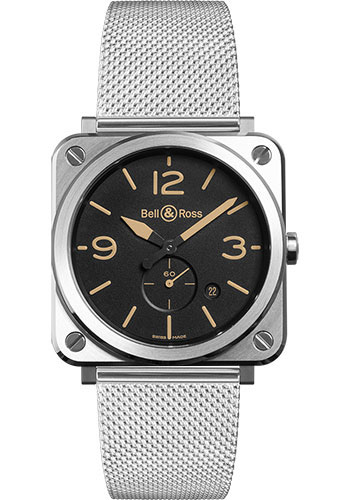 Bell & Ross Watches - BR-S Quartz Steel Heritage - Style No: BRS-HERI-ST/SST