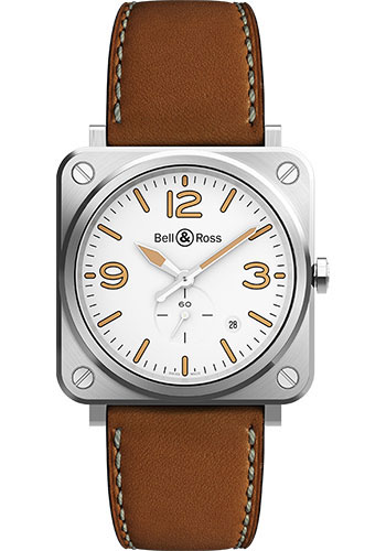 Bell & Ross Watches - BR-S Quartz Steel Heritage - Style No: BRS-WHERI-ST/SCA