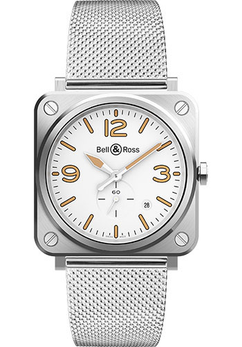 Bell & Ross Watches - BR-S Quartz Steel Heritage - Style No: BRS-WHERI-ST/SST