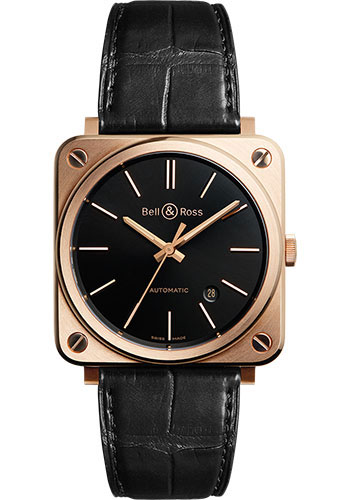 Bell & Ross Watches - BR S-92 Automatic Rose Gold - Style No: BRS92-BL-PG/SCR