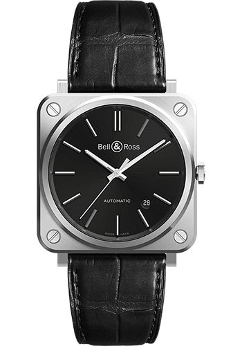 Bell & Ross Watches - BR S-92 Automatic Black Steel - Style No: BRS92-BLC-ST/SCR