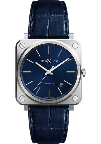 Bell & Ross Watches - BR S-92 Automatic Blue Steel - Style No: BRS92-BLU-ST/SCR