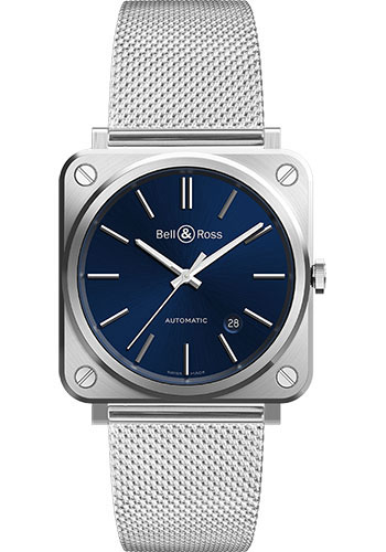 Bell & Ross Watches - BR S-92 Automatic Blue Steel - Style No: BRS92-BLU-ST/SST