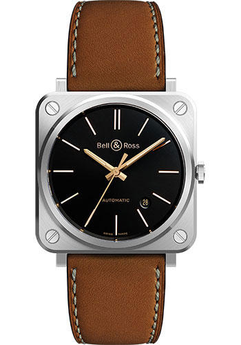 Bell & Ross Watches - BR S-92 Automatic Golden Heritage - Style No: BRS92-ST-G-HE/SCA