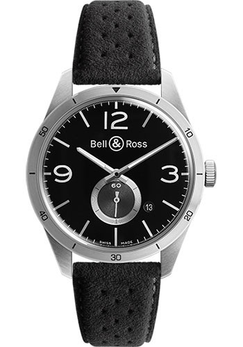 Bell & Ross Watches - Vintage BR 123 Automatic GT - Style No: BRV 123 GT Alcantara