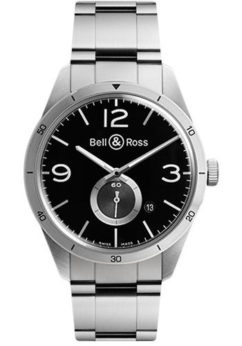 Bell & Ross Watches - Vintage BR 123 Automatic GT - Style No: BRV 123 GT Stainless Steel Bracelet