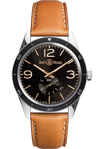 Bell & Ross Watches - Vintage BR 123 Automatic Golden Heritage - Style No: BRV 123 Golden Heritage Calfskin