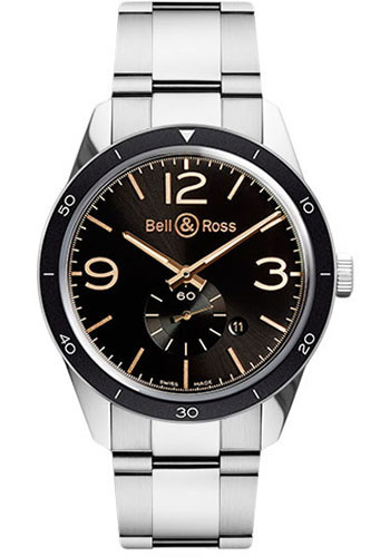 Bell & Ross Watches - Vintage BR 123 Automatic Golden Heritage - Style No: BRV 123 Golden Heritage Stainless Steel Bracelet