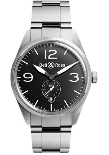 Bell & Ross Watches - Vintage BR 123 Automatic Original - Style No: BRV 123 Original Black Stainless Steel Bracelet