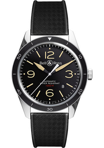 Bell & Ross Watches - Vintage BR 123 Automatic Heritage - Style No: BRV 123 Sport Heritage Weaved Rubber