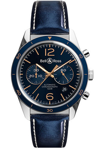 Bell & Ross Watches - Vintage BR 126 Chronograph Aeronavale - Style No: BRV 126 Aeronavale Calfskin