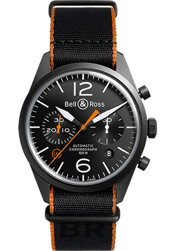 Bell & Ross Watches - Vintage BR 126 Chronograph Carbon - Style No: BRV 126 Carbon Orange