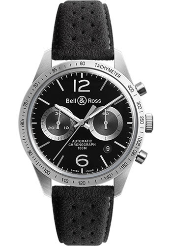 Bell & Ross Watches - Vintage BR 126 Chronograph GT - Style No: BRV 126 GT Alcantara
