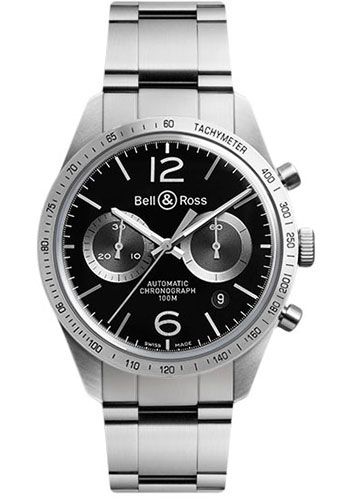 Bell & Ross Watches - Vintage BR 126 Chronograph GT - Style No: BRV 126 GT Stainless Steel Bracelet