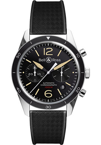 Bell & Ross Watches - Vintage BR 126 Chronograph Sport Heritage - Style No: BRV 126 Sport Heritage Weaved Rubber