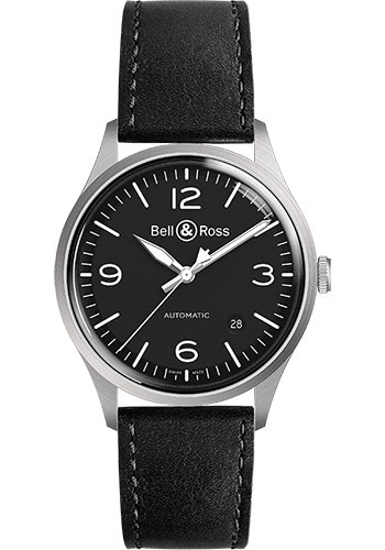 Bell & Ross Watches - BR V1-92 Steel - Style No: BRV192-BL-ST/SCA