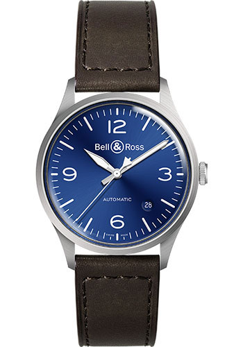 Bell & Ross Watches - BR V1-92 Steel - Style No: BRV192-BLU-ST/SCA