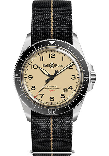 Bell & Ross Watches - BR V2-92 Military Beige - Style No: BRV292-BEI-ST/SF