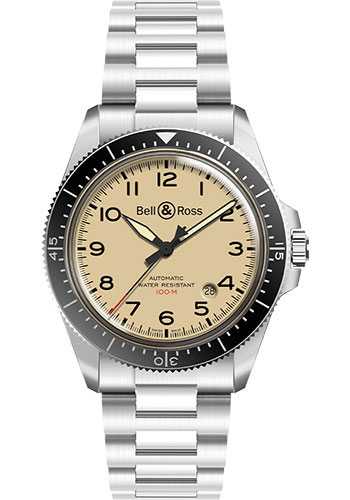 Bell & Ross Watches - BR V2-92 Military Beige - Style No: BRV292-BEI-ST/SST