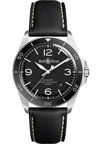 Bell & Ross Watches - BR V2-92 Steel - Style No: BRV292-BL-ST/SCA