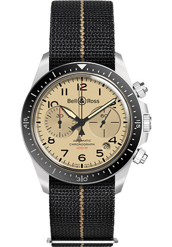 Bell & Ross Watches - BR V2-94 Military Beige - Style No: BRV294-BEI-ST/SF