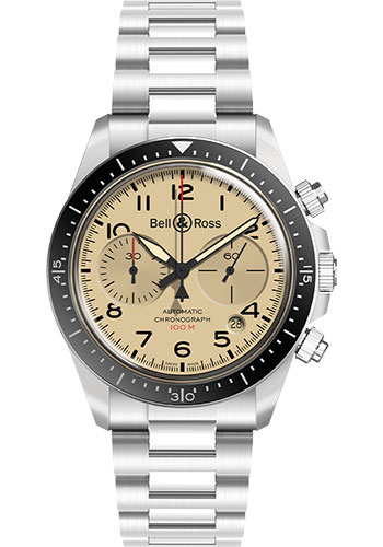 Bell & Ross Watches - BR V2-94 Military Beige - Style No: BRV294-BEI-ST/SST