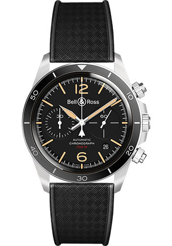 Bell & Ross Watches - BR V2-94 Steel Heritage - Style No: BRV294-HER-ST/SRB
