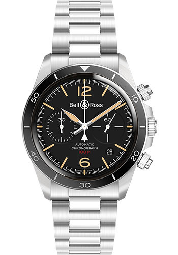 Bell & Ross Watches - BR V2-94 Steel Heritage - Style No: BRV294-HER-ST/SST