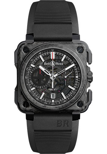 Bell & Ross Watches - BR-X1 Skeleton Chronograph Carbone Forge - Style No: BR-X1 Carbon Forge