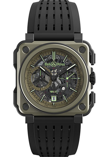 Bell & Ross Watches - BR-X1 Chronograph Military - Style No: BRX1-CE-TI-MIL