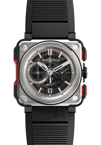Bell & Ross Watches - BR-X1 Skeleton Chronograph Titanium - Style No: BR-X1 Red