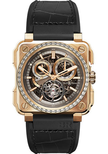 Bell & Ross Watches - BR-X1 Tourbillon Rose Gold Diamonds - Style No: BRX1-CHTB-PG-D